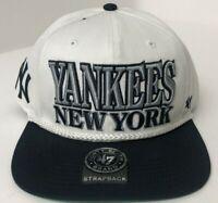 New York Yankees Strapback MLB '47 White Navy Blue 2-Tone Hat Cap NY