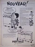 PUBLICITÉ 1959 PIED SELLE PERFECTION CUISINIÈRE A CHARBON - RAOUL - ADVERTISING
