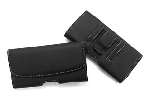 BLACK LEATHER BELT CLIP HOLSTER POUCH CASE FOR SAMSUNG GALAXY S20 ULTRA 5G