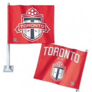 TORONTO FC PREMIUM CAR FLAG OFFICIALLY LICENSED SHIPS FROM CANADA