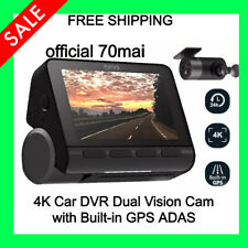 70mai A800 4k Dash Cam Dual-Vision Gps Adas Parking Monitor Car Dvr Uhd Camera