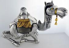Frank Meisler Israel Articulated Sitting Camel Silver & Gold Plated Sculpture