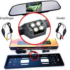 Rückfahrkamera Nummernschild Kennzeichen Kamera 170 mit Rückspiegel Monitor Funk