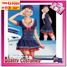 Unbranded Polyester Sailor Dress Costumes for Women