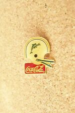 Miami Dolphins football helmet Coca Cola brooch pin coke coca-cola