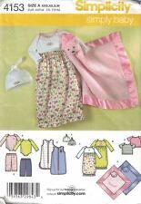 Babies Layette w/ Lovey Blanket Simplicity 4153 Sewing Pattern XXS  - M Unisex