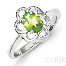 Anelli di lusso naturale peridoto Misura anello 8
