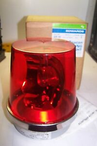 "NEW EDWARDS ADAPTABEACON 52R-N5 ROTATING LIGHT RED 120 VAC .26 AMP 1/2"" MOUNTING"