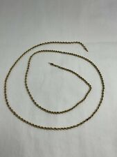 Vintage 14k Yellow Gold Rope chain 15.5 g