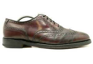Bostonian Crown Windsor USA Brown Shell Cordovan Wingtip Oxford Shoes Mens 9.5 C