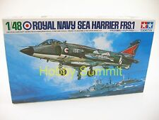 Tamiya 1/48  SEA HARRIER FRS.1 British Navy Jet Fighter  Aircraft Carrier  61026