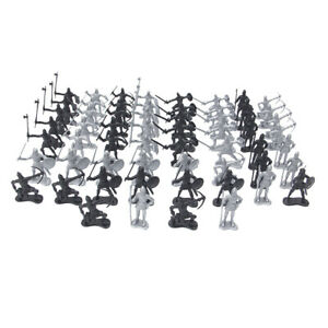 60 Pieces Medieval Knights Infantry Soldiers Figures Kids Games