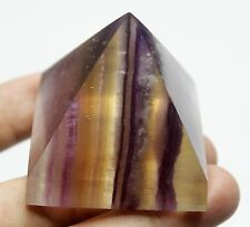 "130.5g NATURAL COLORFUL RAINBOW FLUORITE ""PYRAMID"" QUARTZ CRYSTAL POINT HEALING"