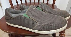 Olukai Nohea Mesh Mens Size 13M Beige Slip On Walking Shoes Loafers