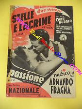 RARO SPARTITO SINGOLO Stelle e lacrime Passione ARMANDO FRAGNA 1952 no cd lp