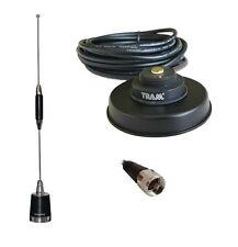 Antenna UHF 5dBd Black Magnet Mount Mobile Radio Kenwood Vertex PL259 450-470