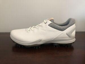 ECCO Biom G3 Gore-Tex Golf Shoes Spikes Men's Size 12-12.5 (EU 46) White