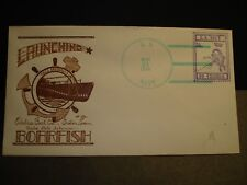 Submarine USS BOARFISH SS-327 Naval Cover 1944 HERALD WWII LAUNCH Cachet