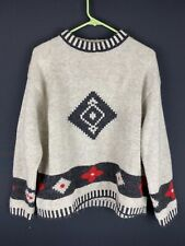 United Colors Of Benetton Mens Multicolor Long Sleeve Aztec Print Sweater €
