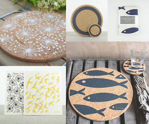 BRAND NEW LIGA Cork Placemats, Coasters, Dish Cloths, Tea Towels, Trays, Trivets