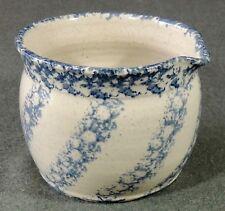 Westerwald Pottery M.E.L. 1993 Salt Glaze Sponge Ware Bowl Pot With Spout EUC