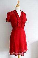 Laura Ashley Rouge années 1930 années 1940 tea dress Wartime ww2 retro pin up LINDY BOP 10