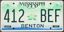 TARGA ORIGINALE USA Mississippi 2003 plaque d'immatriculation TARGA