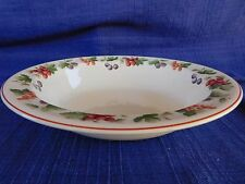 """Wedgwood Provence Queensware 9"""" OVAL SERVING BOWL Fruit Border"""