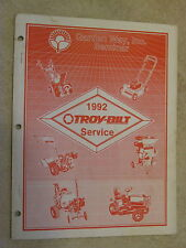 1992 TROY-BILT SERVICE DEALER IDENTIFICATION SPECIFICATIONS PARTS MANUAL
