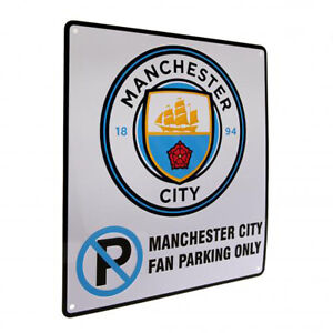 Manchester City F.C - Metal No Parking Sign - GIFT / PLAQUE
