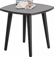 Sturdy Black Milo Side End Occasional Table - Lamp Table - Coffee Table - Modern
