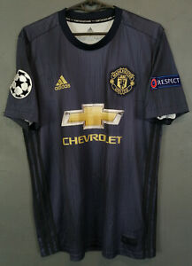 MANCHESTER UNITED 2018/2019 CHAMPIONS LEAGUE SOCCER FOOTBALL SHIRT JERSEY SIZE S