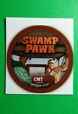 "SWAMP PAWN CMT ON BOAT TV PHOTO SM 1.5"" GET GLUE STICKER"
