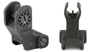Troy Battle Sight Set - HK Front & Rear Fixed - Black- USA Factory Battlesight
