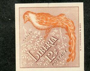 LIBERIA BIRD SCOTT# 346 ERROR BIRD  IMPERFORATE MINT NH