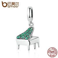 Bamoer European Musical piano S925 Sterling Silver charm Beads fit Bracelet hot