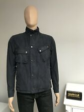 £229 Barbour International Steve Mcqueen WASHED 9665 Jacket Navy Blue Small S