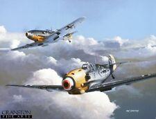 WW2 AVIAZIONE ART POST CARD TEDESCO LUFTWAFFE ASSO Adolf Galland Me109 BF109