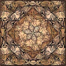 © ART - Tessellation brown Tree Frog Mandala Animal Original Artist Print Di