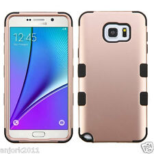 Rose Gold Hybrid Multi-Layer Case Shockproof Cover for Samsung Galaxy Note 5