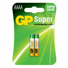GP GPPCA025A001 AAAA Super Alkaline Batteries (Pack 2)