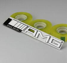 3D Car Metal Chrome Decals Badge Emblems Fenders chrome For AMG A B C E S R SL