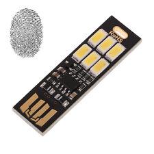 Pocket Card Lamp Bulb 6 LED Keychain Mini LED Night Light Portable USB Power New