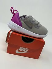 BABY GIRLS: Nike Hakata Shoes, Gray & Purple  - Size 5C AO1246-003