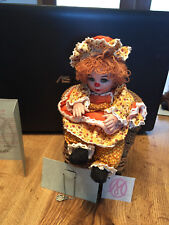 Marie Osmond Pumpkin Spice Rag A Muffin Doll COA + Doll Necklace