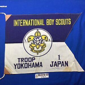 Boy Scout International Boy Scouts Troop 1 Yokohama Japan Mini Flag IBS BSN