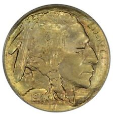 1914 Buffalo Nickel Die Clash PCGS OGH MS63 Toned
