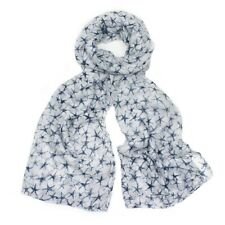 White Blue Star Scarf Brittle Stars Scarves Holiday Summer Beach Shawl Clearance