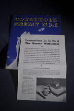 1934 Household Enemy No 1 & Instructions for Use of Hoover Mothimizer