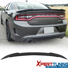 Fits 15-21 Dodge Charger Rear Trunk Spoiler Wing ABS Matte Black Hellcat Style